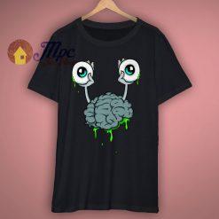 Brain Monster Funny T Shirt