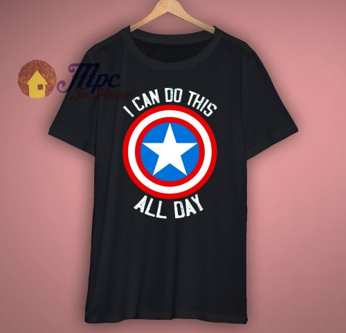 Captain America Super Hero T Shirt