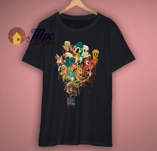 Cartoon Characters Funny T Shirt