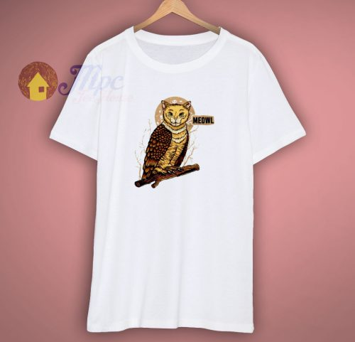 Cat Owl Funny Mashup T Shirt