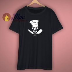 Chef Skull Funny T Shirt