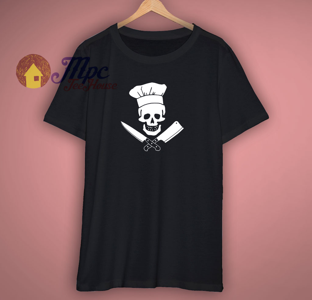 Chef Skull Funny T Shirt