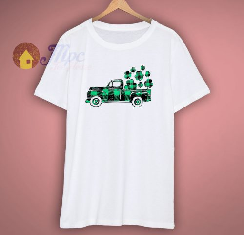 Clover Green Plaid Truck T Shirt