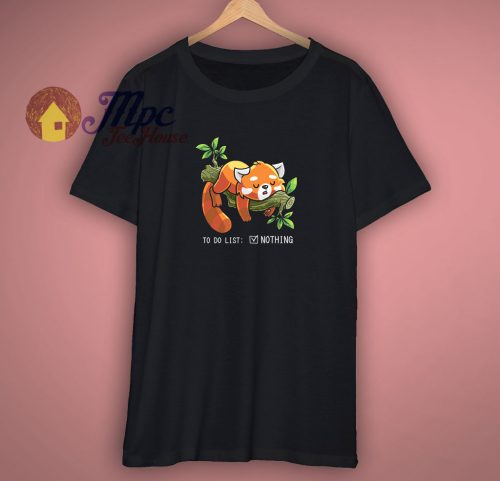 Cute Red Panda Lazy T Shirt