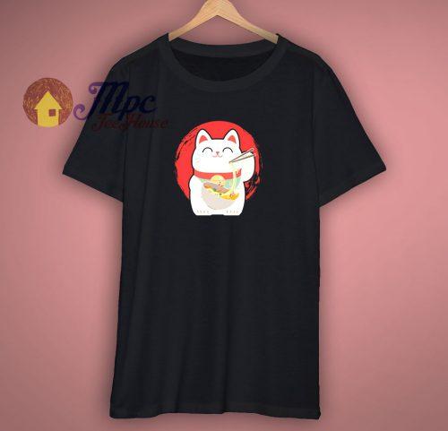 Japanese Ramen Cat Gift T Shirt