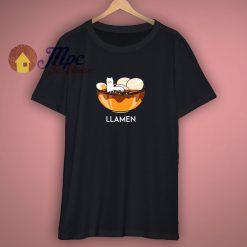 Llama Ramen Funny T Shirt
