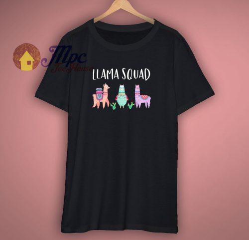 Llama Squad Goals Funny T Shirt
