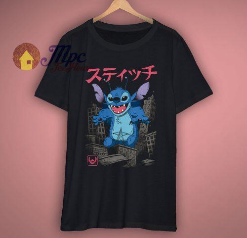 Stitch Godzilla Funny T Shirt