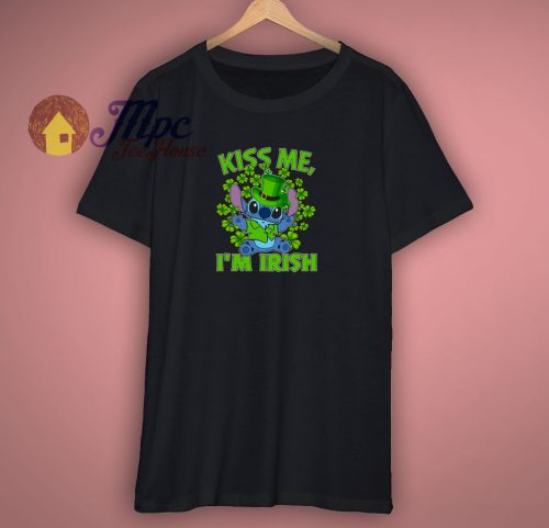 Stitch Kiss Me I Am Irish T Shirt