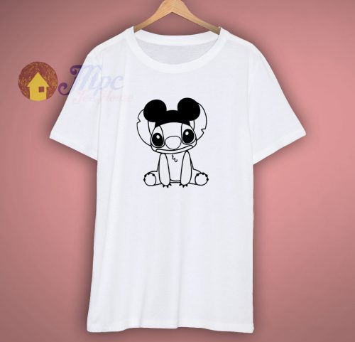 Stitch With Mickey Ears T Shirt