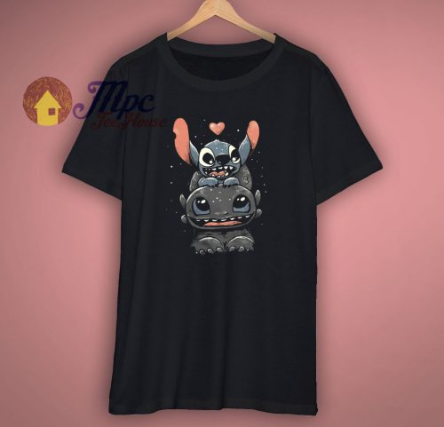 Stitch With Toothless Funny T Shirt