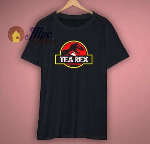 Tea Rex Jurassic Park Parody T Shirt