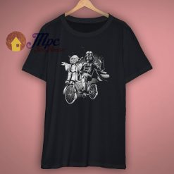 Vader And Yoda Riding A Bike T Shirt