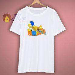 Vintage Simpsons Family White T Shirt