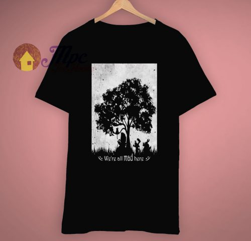 Alice In Wonderland Silhouette Art T shirt