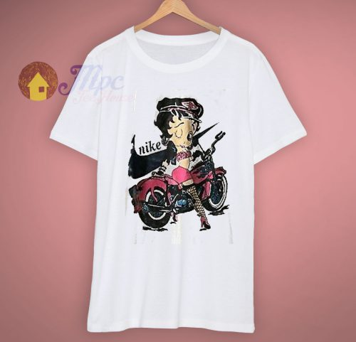 Beautifull Betty Boop Boot 90s T Shirt
