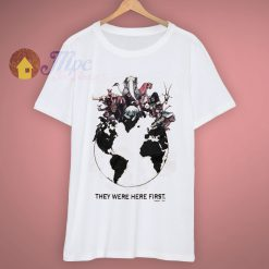Human Animal They Were Here First 90s T Shirt
