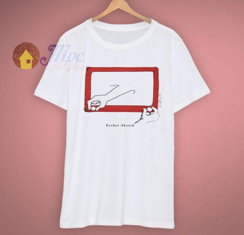 Escher Spoof Each A Sketch 90s T Shirt