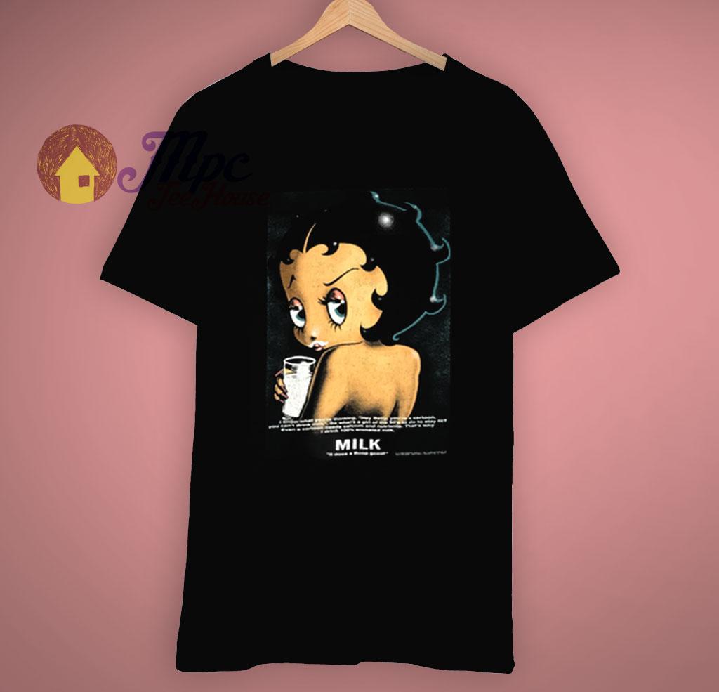 Awesome Betty Boop Got Milk T Shirt