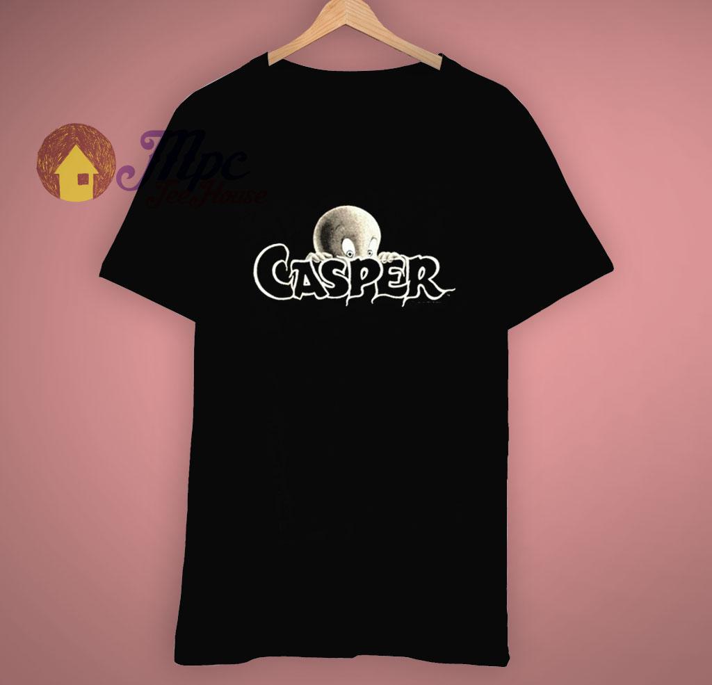 Casper The Ghost Boo Black T Shirt