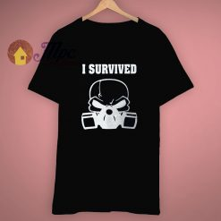 Flag Fighter I Survived Skull T Shirt