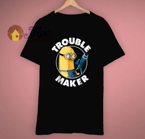 Minions Graphic Trouble Maker T Shirt