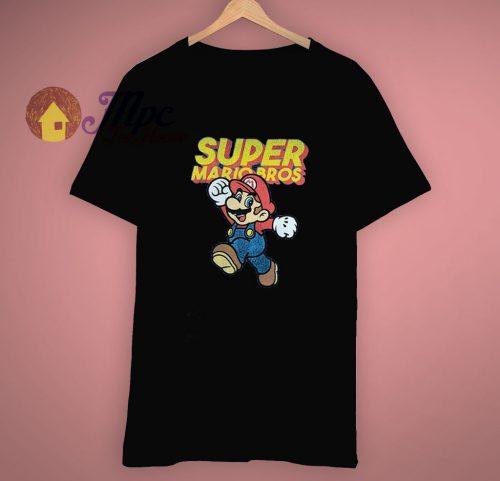 Retro Classic Nintendo Super Mario Bros T Shirt