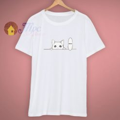 Aesthetic Japanese Anime Hiding Kitty T Shirt