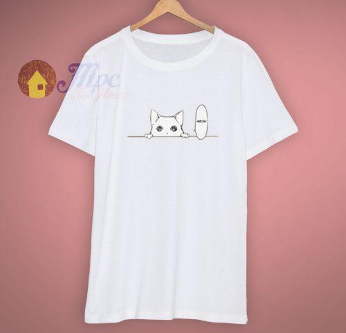 Aesthetic Japanese Anime Hiding Kitty T Shirt