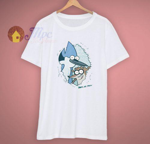 Animated Regular Show Eyes Spy T Shirt