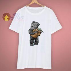 Baby Yoda Hugging Baby Groot T Shirt