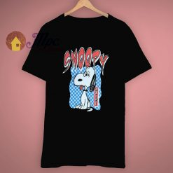 Black Cartoon Peanuts Snoopy T Shirt
