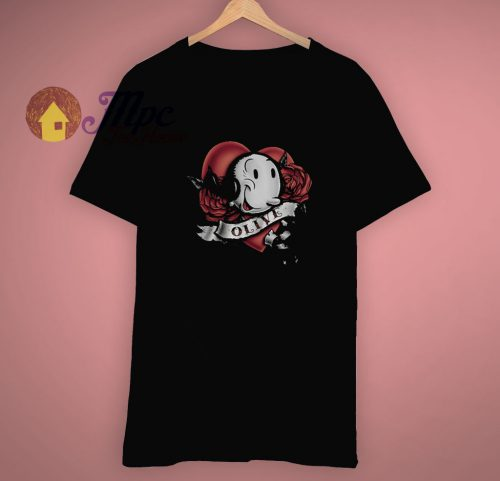 Classic Popeye Olive Cartoon T Shirt