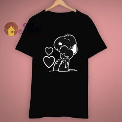 Dog Lover Snoopy Peanuts Heart T Shirt