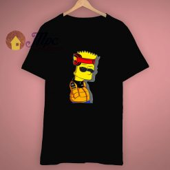 Funny Cool Naruto X Bart Simpson T Shirt