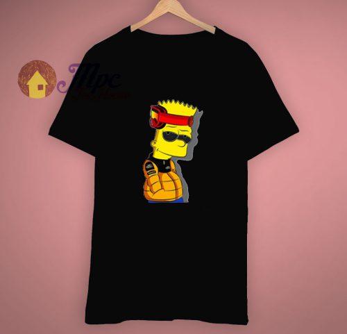 Funny Cool Naruto X Bart Simpson T Shirt