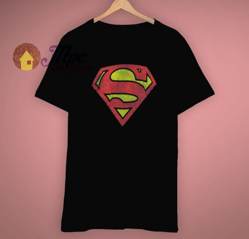 Graphic Superhero DC Comics Superman Logo T Shirt