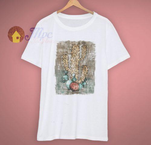 Leopard Cactus Cheetah Cute T Shirt