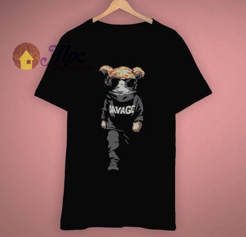 Match Yeezy Black Savage Bear T Shirt