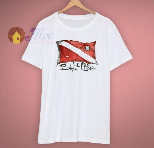 Pocket Salt Life Dive Flag T Shirt
