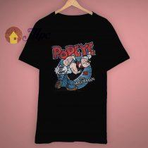 Retro Look Popeye The Sailorman T Shirt