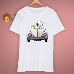 Snoopy Dog Driver Car Peanuts Charlie Brown T Shirt