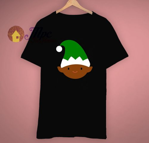 Black Elf Face Merry Christmas T Shirt