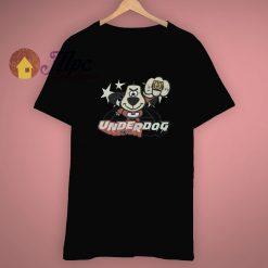 Cartoon Underdog Flying Logo T Shirt