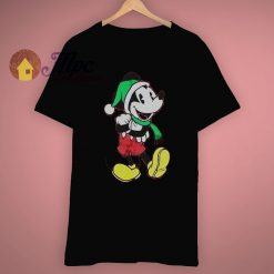 Santa Hat Mickey Mouse Christmas T Shirt