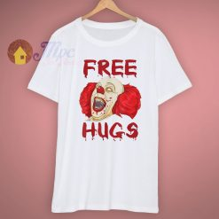 Scary Clown Free Hugs Evil Halloween T Shirt