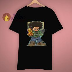 Cartoon Boondocks X Infinity Gauntlet Huey T Shirt