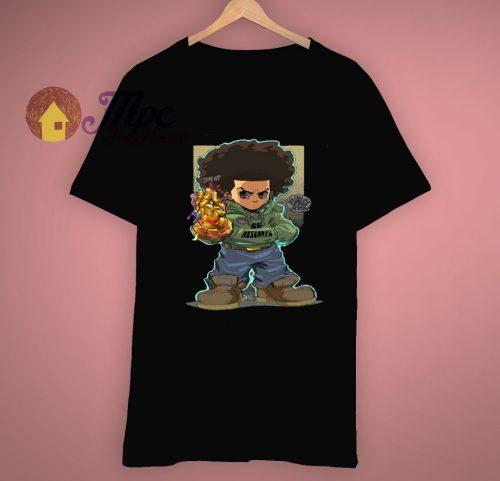 Cartoon Boondocks X Infinity Gauntlet Huey T Shirt