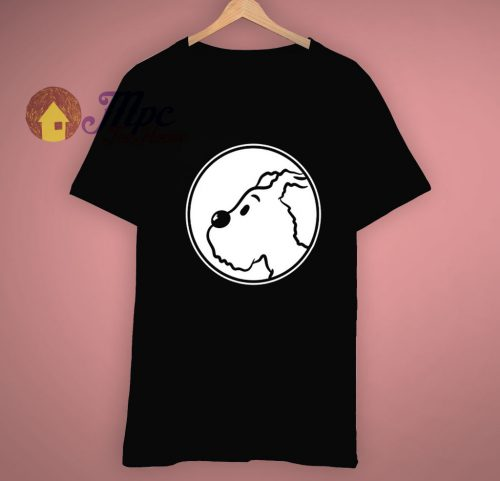 Cartoon Dog Snowy Tintin T Shirt