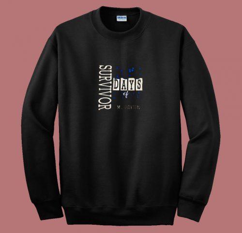 100 Days Of School Ms Paxton 80s Sweatshirt